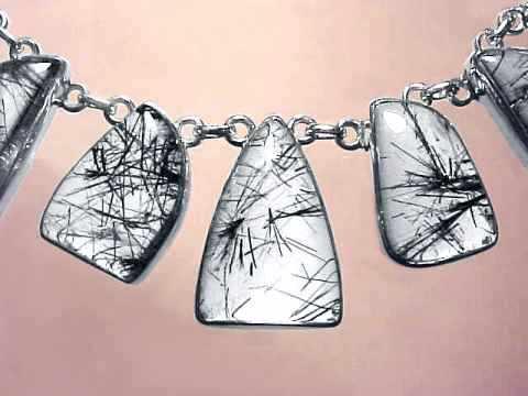 Black tourmaline jewelry and tourmalinated quartz crystal jewelry black tourmaline in quartz crystal necklace item tbkj232 aloadofball Image collections