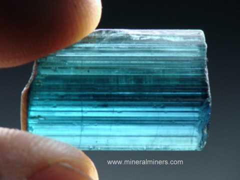 Blue Tourmaline Crystals - Natural Color Indicolite Crystals