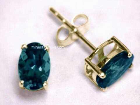 Blue Tourmaline Earrings In 14k Gold Item
