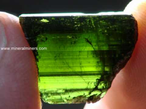 Green Tourmaline Rough