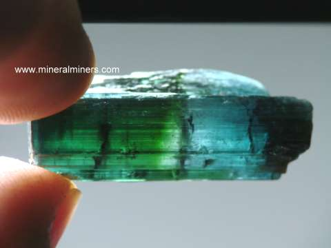 Bi-color Tourmaline Mineral Specimens and Crystals