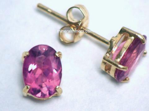 Natural Pink Tourmaline Earrings Item
