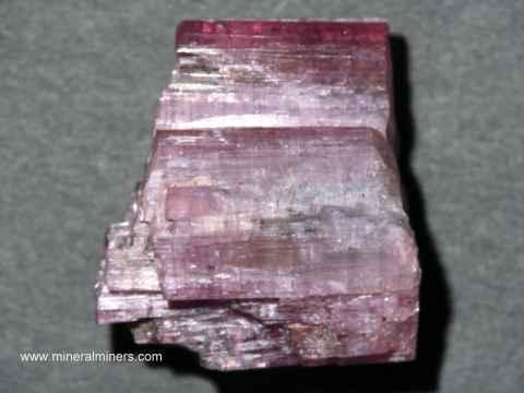 Pink Tourmaline Crystals & Mineral Specimens (natural color)