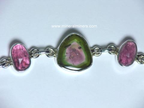 Watermelon Tourmaline Bracelets