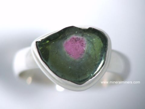 Watermelon Tourmaline Rings