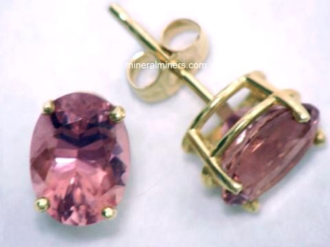 Sunset Tourmaline Earrings
