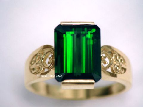 Green Tourmaline Rings