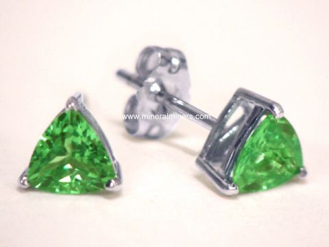 Merelani Mint Green Garnet Earrings