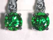 Tsavorite Green Garnet Earrings