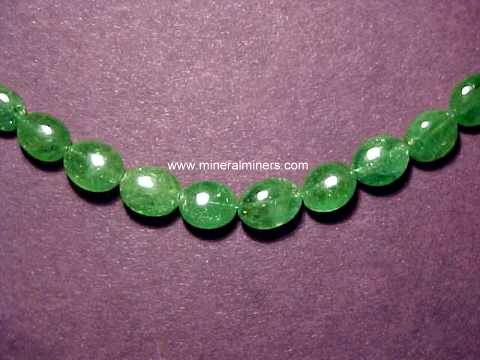 Tsavorite Green Garnet Necklaces