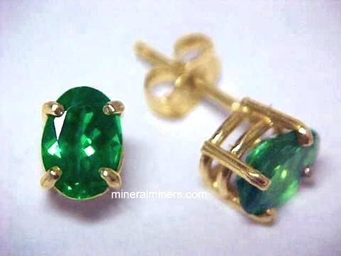 Fine Green Tsavorite Garnet Earrings In 14k Gold Item Tsvj131aa