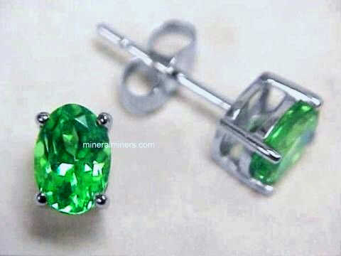 Tsavorite Fine Mint Green Garnet Earrings Item Tsvj152
