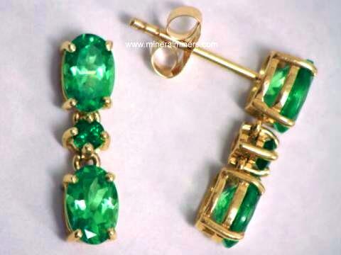 Tsvj165 Tsavorite Garnet Earrings Jpg