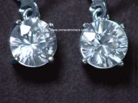 Zircon Earrings: White Zircon Earrings