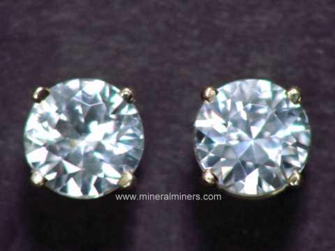 7 5mm White Zircon Earrings In 14k Studs Item Zirj170 Jewelry