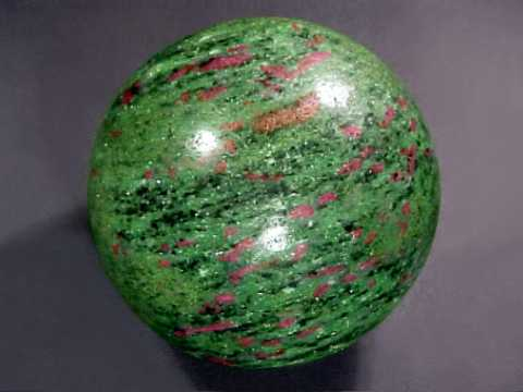 Ruby in Zoisite Sphere